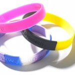 multi coloured silicon wristbands